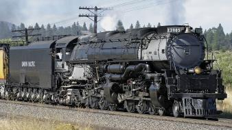 Trains locomotives steam union pacific widescreen 4-6-6-4 mallet wallpaper