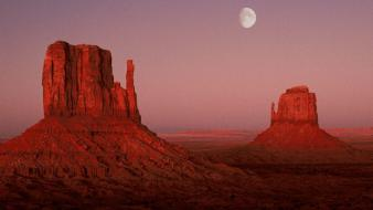 Utah monument valley moonrise wallpaper