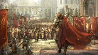 Video games army knights medieval wallpaper
