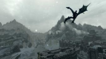 Video games screenshots the elder scrolls v: skyrim wallpaper