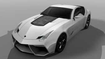 White design lamborghini front concept art 2009 toro wallpaper