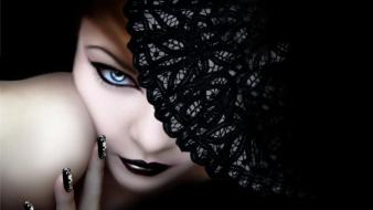 Women blue eyes models gothic faces wallpaper