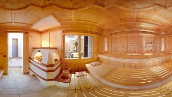 Wood room sauna hotels wallpaper