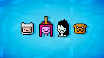Adventure time princess bubblegum 16-bit finn and jake Wallpaper
