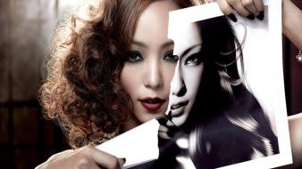 Album covers torn paper namie amuro jpop wallpaper