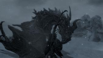 Argonian the elder scrolls v: skyrim alduin wallpaper