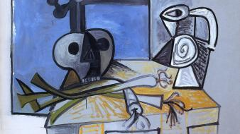 Artwork pablo picasso traditional art still life wallpaper