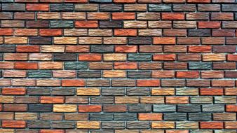 Backgrounds bricks colored patterns surface wallpaper