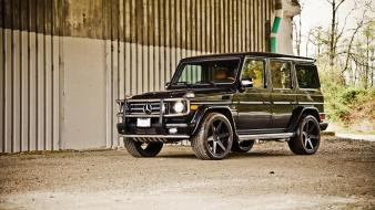 Black cars mercedes-benz mercedes benz gelandewagen g500 Wallpaper