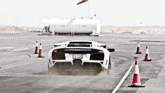 Cars smoke lamborghini dust track wallpaper