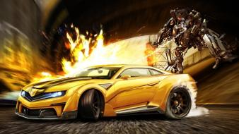 Cars tuning chevrolet camaro ford focus rs 3d wallpaper