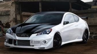 Cars tuning hyundai genesis 3d wallpaper