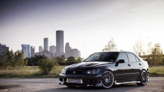 Cars tuning tuned black cities lexus is300 kinessis Wallpaper
