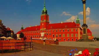 Cityscapes buildings warsaw wallpaper