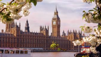 Cityscapes england london big ben thames tamiza wallpaper