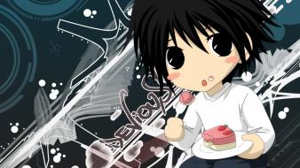 Death note chibi l. wallpaper