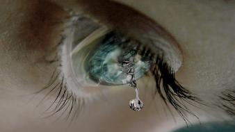 Eyes tears crying wallpaper