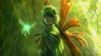 Fairies the legend of zelda green hair saria Wallpaper