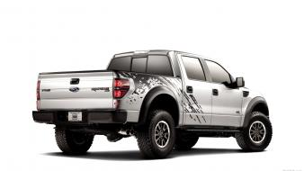 Ford f-150 svt raptor pickup white background Wallpaper
