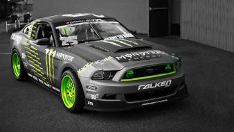 Ford mustang selective coloring monster energy sports wallpaper