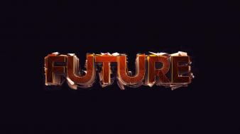 Future typography christian digital art black background Wallpaper