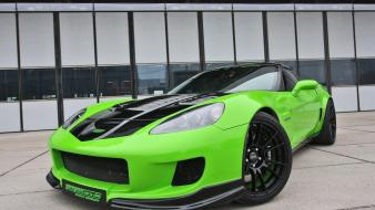 Green front corvette coupe sports cars geiger wallpaper