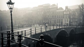 Holland amsterdam dutch monochrome the netherlands cities wallpaper