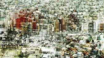Japan tokyo cityscapes artwork multiple exposure stephanie jung wallpaper