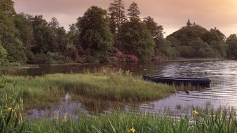 Landscapes nature dock ireland lakes Wallpaper