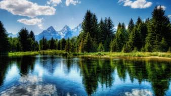 Landscapes nature lakes harmony wallpaper