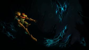 Metroid video games samus aran phazon wallpaper