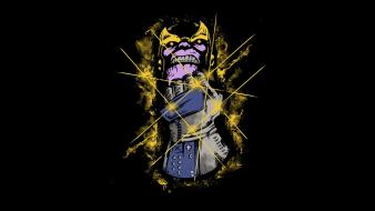 Minimalistic funny power glove thanos wallpaper