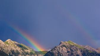Mountains landscapes nature rainbows wallpaper