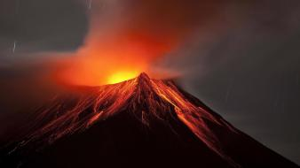 Mountains volcanoes lava ecuador wallpaper