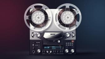 Music audio recording reel to wallpaper