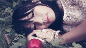 Nam asians snow white apples black hair wallpaper