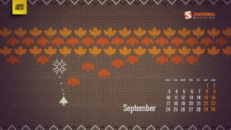 Numbers space invaders calendar september smashing magazine wallpaper
