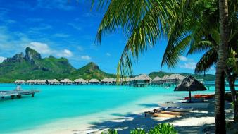 Ocean landscapes beach paradise islands azure wallpaper