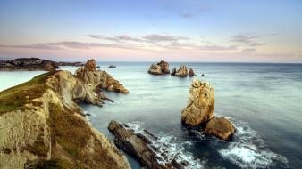 Ocean landscapes nature beach rocks wallpaper