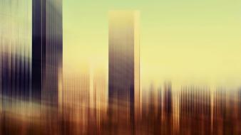 Osaka skyscrapers artwork multiple exposure stephanie jung wallpaper