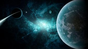 Outer space stars planets earth wallpaper