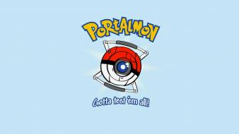 Pokemon portal minimalistic funny wheatley wallpaper