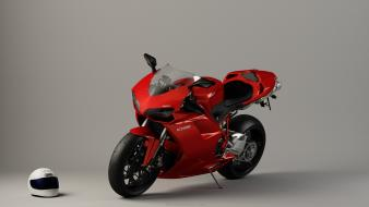 Red helmet animation ducati motorbikes racing wallpaper
