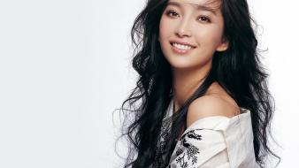 Simple background li bingbing wallpaper