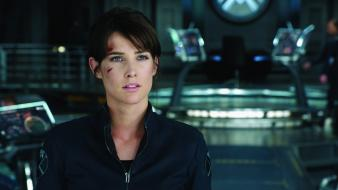 Smulders maria hill the avengers (movie) s.h.i.e.l.d. wallpaper