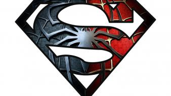 Spider-man superman logo Wallpaper