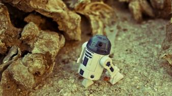 Star wars landscapes sand desert rocks r2d2 wallpaper