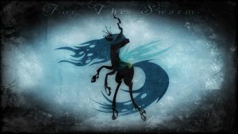 Swarm my little pony changeling queen chrysalis wallpaper