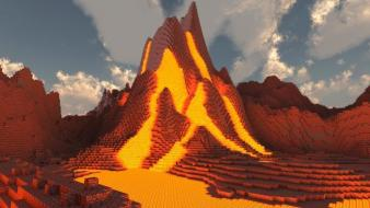 Volcanoes minecraft wallpaper