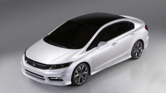 White cars concept art honda civic wallpaper